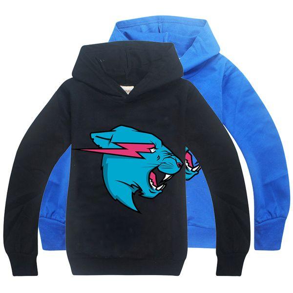 top popular Mr Beast kids hoodies Spring and Autumn 6-14t Kids Boys Long Sleeve Hoodies Sweatshirts 120-160cm kids designer clothes boys BSS341 2021