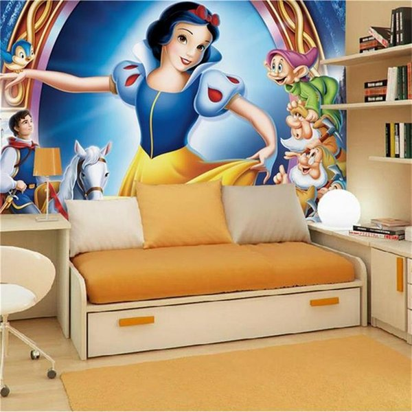 Custom 3d Kids Room Photo Wallpaper Mural Snow White And The Seven Dwarfs Picture Modern Art Creative Livingroom Hotel Study Wall Paper 3d Girls