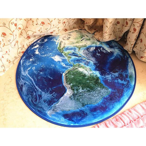 Tapis polyester 80 * 80cm Tapis pour manger Salon Chambre Décoration poussière Protection Tapis de sol Salle de bain Accueil Multicolors ronde