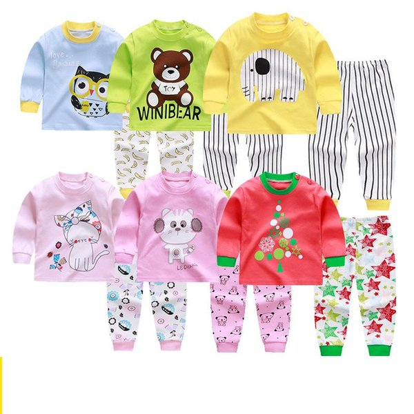 2019 Autumn Baby Clothing For Boy Girl Pijamas Underwear Sets Casual Clothes Long Sleeve Suit Outfits