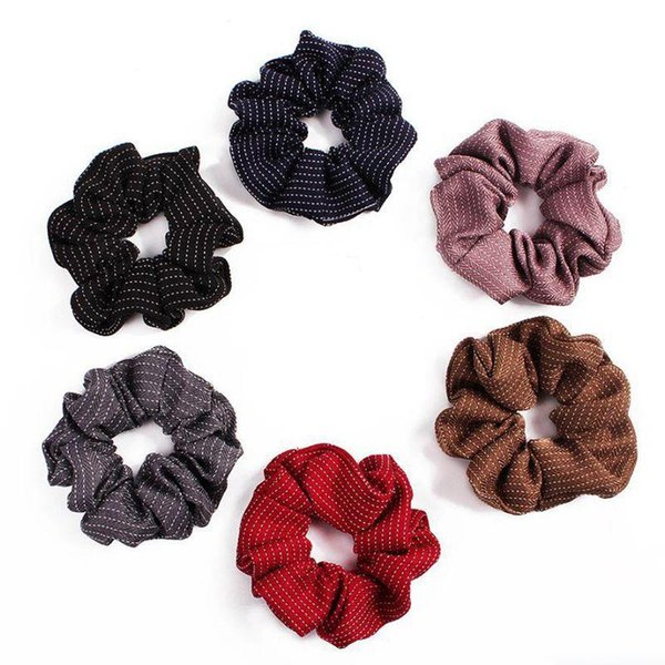 Girls Kids Black Scrunchie Small Hairband Hair Rope Elastic Headband Accessories