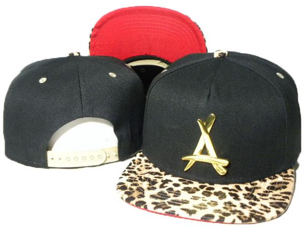 black leopard snapback cap men Tha Alumni A Snapback hats metal gold A logo mens & women designer baseball SPORTS CAPS HATS DDMY