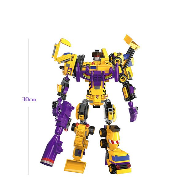 best selling New products hot seven-in-one assembly deformation robot robot Ares amazing building blocks assembling toys puzzle boy