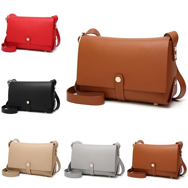 2018 Mini bag femminile Borsa casual in pelle PU piccola con patta per donna Ragazza Messenger semplice Crossbody Messenger Mochila Feminina