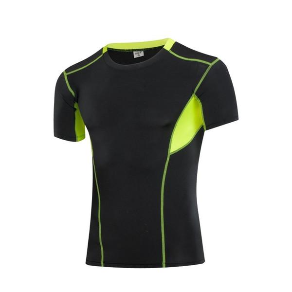 Baskı erkek Atletik Giyim Spor Tişört Hızlı Kuru Kısa Kollu Üst Tee # 396036