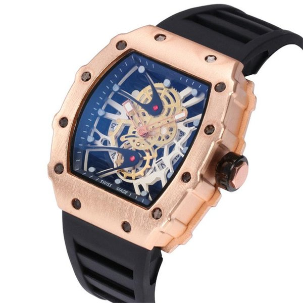 66 Super Price Men's Quartz Watches Fashion Skeleton Quartz designer new Hot Honmin Sports Watches Luxury Men Quartz Watch Wholesale