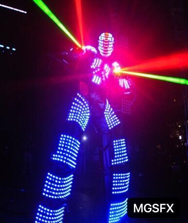 Spedizione gratuita LED ROBOT / LED ROBOT SUIT / COSTUMES per il concerto di festa in discoteca