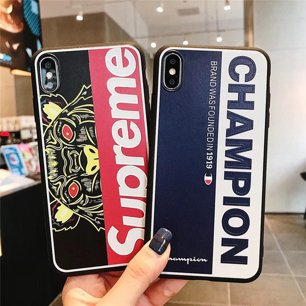 Fashion Designer iPhone Case for IPhone X 6 7 8 Plus xsmax Ultra Slim Thin Cases with Popular Brand phone cover Letter TPU
