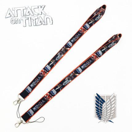 Атака на Titan Lanyard ID Знак Держатель ключа шейный ремешок Дети Подарки брелок