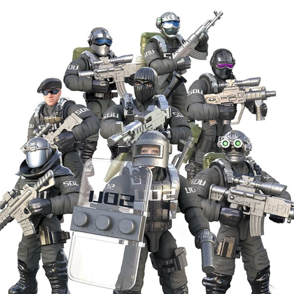 best selling Assembled mini military soldier man special forces decoration flying tiger team building blocks puzzle model compatible building blocks