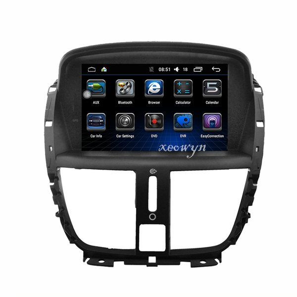 Quad Core Android 6.0 Car DVD GPS for PEUGEOT 207 207 plus Navigation,Bluetooth,Radio,IPOD,CAN-BUS,Stereo,head unit,Audio,Video