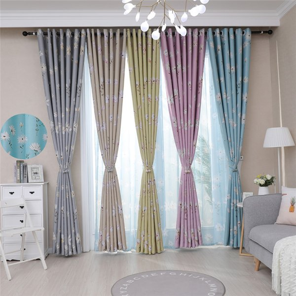 2019 Daisy Printed Blackout Curtains For Living Room Jarl Home Decor  Elegant Grommet Top Kitchen Cafe Window Curtain Panels For Kids From  Jarlhome, ...