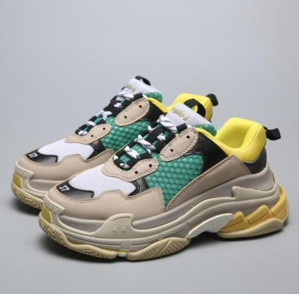 Erkekler Kadınlar toptan Üçlü S bayan Sneake rgjrt Rahat Baba Ayakkabı erkekler Kadınlar için Bej Siyah Ceahp Spor Tasarımcı Ayakkabı Boyutu 36-45