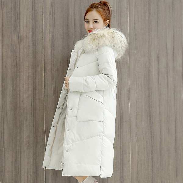 For Fashion Women New Length Thickened Fashion Warm Winter Jacket Coat New Winter Park In Big Fur 6603 Feathers For Women