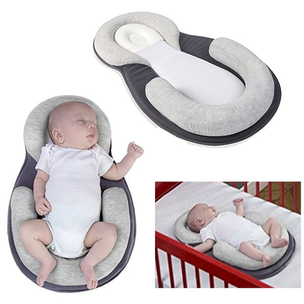 top popular Dropship Baby Pillow Infant Newborn Mattress Pillow Baby Sleep Positioning Pad Prevent Flat Head Shape Anti Roll Pillows 2021