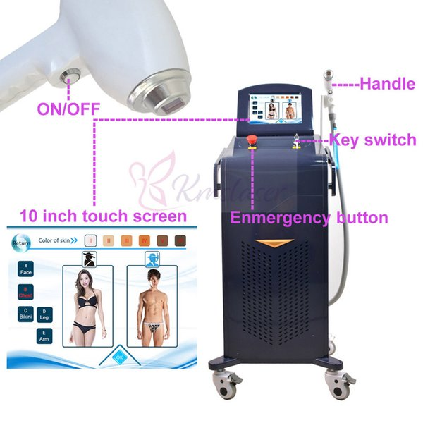 portable laser lightsheer 808nm hair removal diode laser machines with 20 million shots Soprano 808 depilation