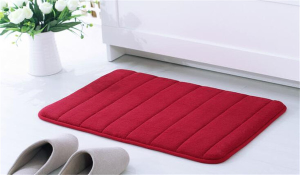 best selling New Textiles 40*60cm Bath Mat Bathroom Carpet Water Absorption Rug Shaggy Memory Foam Bathroom Mat kitchen Floor