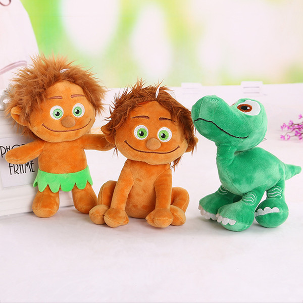 Salvaje primitivo y dinosaurio 9.5 pulgadas de dibujos animados muñeca de peluche muñeca de peluche lindo suave lindo suave animales de peluche regalos de peluche para niños