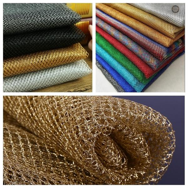 1 Yard Polyester Thread Dress Wedding Mesh Cloth Fabric Net Roll Sparkle Warp Cloth KYY8182