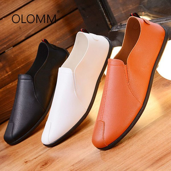 2019 New Spring and Summer Mens Casual Shoes Shoes Mens Loafers Zapatos De Hombre Men Casual Natural Leather Loafers