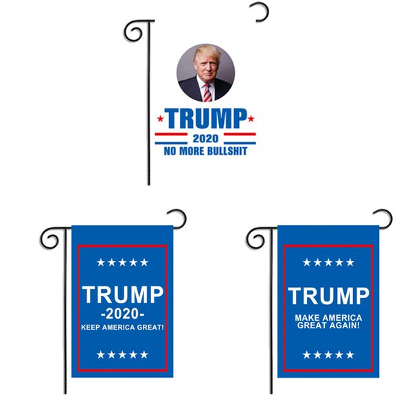 America Trump Flag 30 * 45 CM 6 diseños impresos digitales Make America Great Polyester Banner Home Garden Flag Decor 50 Unidades DHL