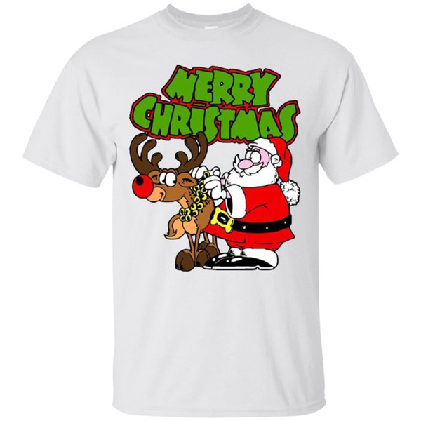 Camiseta Feliz Navidad Camiseta divertida para hombre de manga corta S-3XL