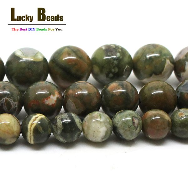 beads for making Natural Green Old KAMBABA Stone Beads For Making 15inches 6 8mm 10mm DIY Jewelry (F00580)