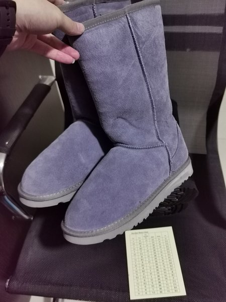8 Grey high boots