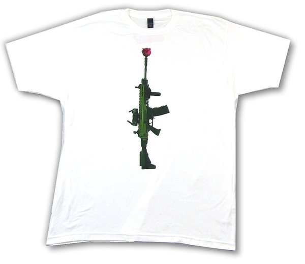 Machine Gun Kelly Rose Rifle White T Shirt New Official MGK Merch Funny free shipping Unisex Casual Tshirt top