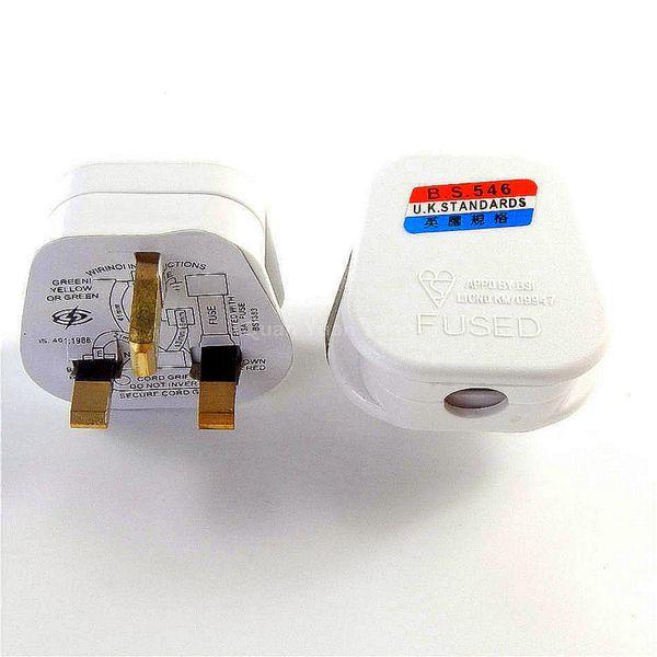 UK Plug Standard Fusible 13 A 13 AMP Blanc Secteur 3 Broches ménage NEUF