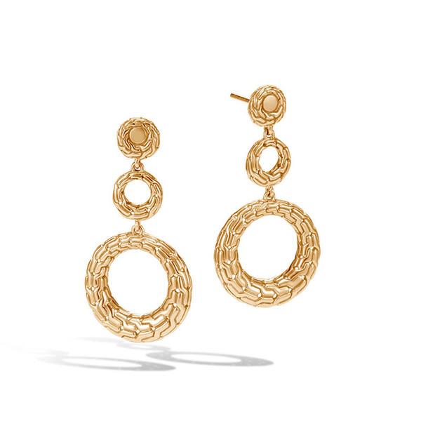 Orecchini lunghi esagerati orecchini placcati oro di lusso creativo 8 parola forma torsione gioielli orecchio prezzo basso fornitura all'ingrosso