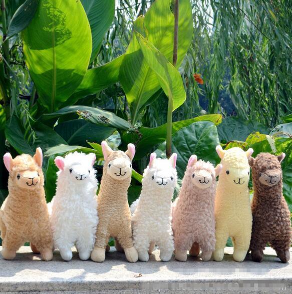 Lovely 23cm White Alpaca Llama Plush Toy Doll Animal Stuffed Animal Dolls Japanese Soft Plush Alpacasso For Kids Birthday Gifts