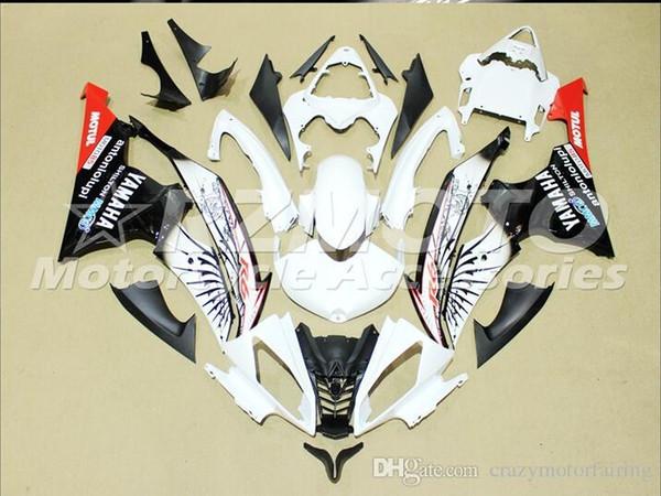 4 Regalos gratis Nuevos kits de carenado ABS de inyección 100% aptos para YAMAHA YZFR6 08 09 10 11 12 13 14 15 YZF R6 2008-2015 YZF600 set Azul Negro Rojo K12