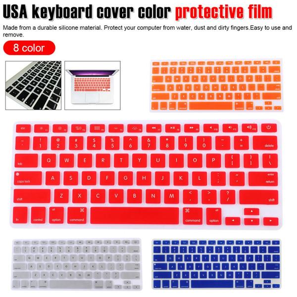 Farbschutzfolie Laptop-Tastaturabdeckung für MacBook Pro 15 Zoll A1502 A1278 A1398 US Silicon Cover dünne Tastatur