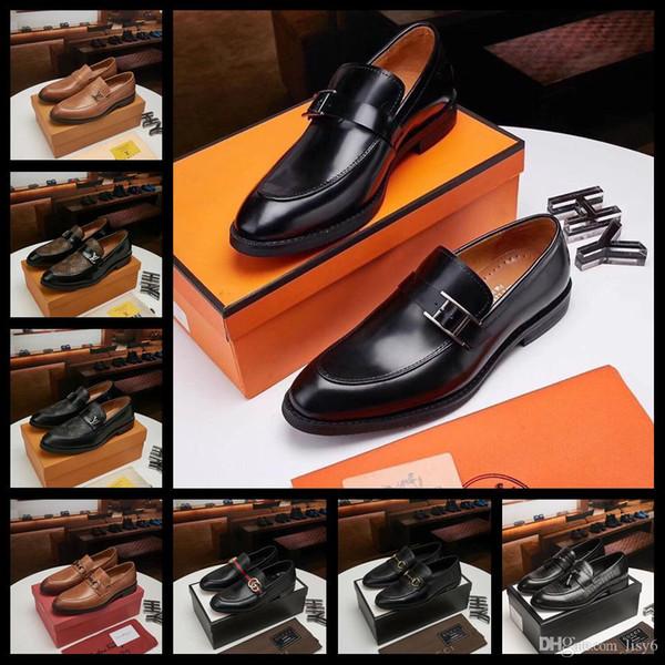 20 STYLE LISY7 итальянская обувь модная обувь на высоком каблуке из кожи европейская обувь на шнуровке черный коричневый мужской размер 38-45 с коробкой LISY9