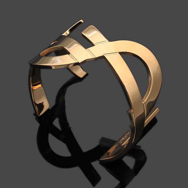 Haute qualité 2018 Vente en gros de marque en acier inoxydable or rose bracelet à quatre fleurs bracelet pour les femmes pulseiras