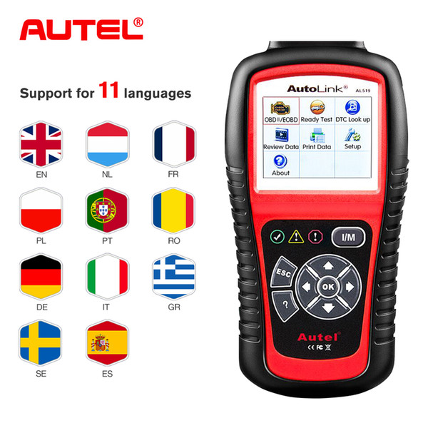 Autel AutoLink AL519 OBD2 Scanner Car Diagnostic Tool OBDII Auto Code Reader Better Than ELM327 OBD