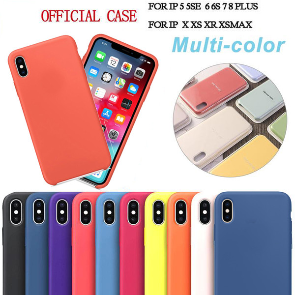 have logo original official liquid silicone solid gel rubber defender case cover for iphone 11 pro max xs xr x 8 7 6 6s plus with retail box