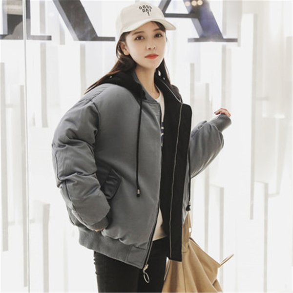 2019 winter new cotton coat loose clothing bread service woman thick short