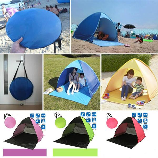 Outils de camping en plein air Randonnée Tentes de camping Abris de plein air 50+ tente de protection UV pour la plage Voyage Lawn Home 10 PCS DHL / Fedex Shipping