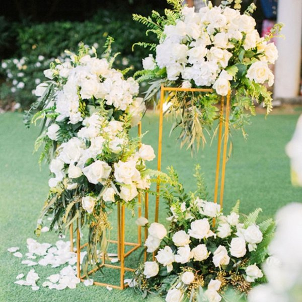 Creative Wedding Decorations Frame Shelf Rectangle Shape Metal Road Cited for Party Table Aisle Runner Centerpieces Supplies