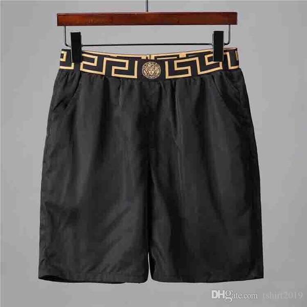 New beach shorts wholesale summer men's shorts 2019 trendy popular logo suit swimsuit men's beach pants swim board pants