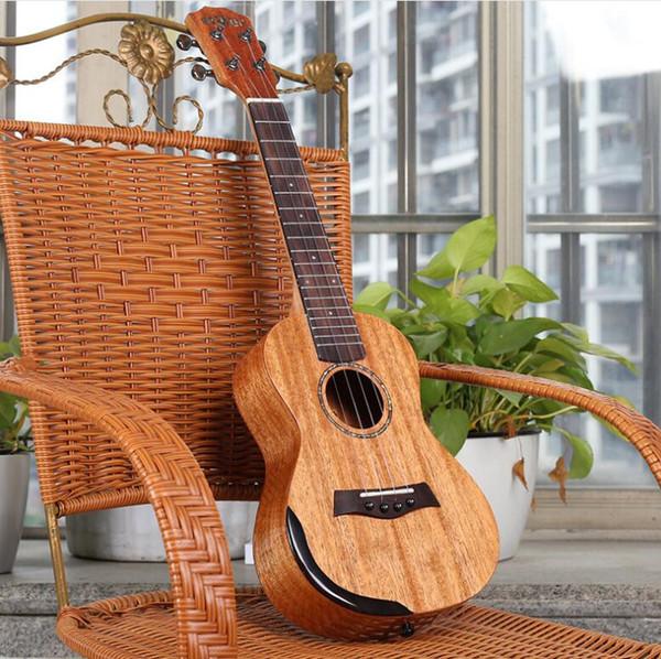 Envío gratis 23 pulgadas solo tablero ukulele luz mano guardia uklele Hawaii cuatro cuerdas pequeña guitarra
