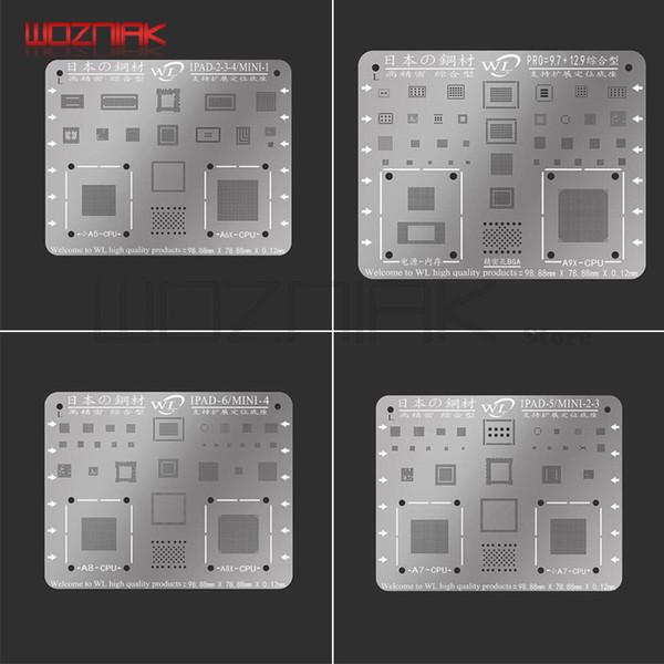 WL pour iPad 2/3/4/5/6 / mini1 / 2/3/4 Air 1 2 9,7 12,9 pro CPU NAND filet en acier puce de circuit intégré étain usine de réparation coffrage en acier importé
