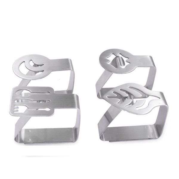 Stainless Steel Table cloth Clip Wedding Promenade Table Cover Holder Promenade Round tablecloth Stable Clips For Home CT0142