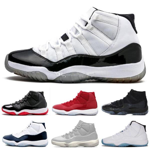 Concord 45 Jumpman 11 11s Уличная обувь для мужчин Platinum Tint CAP AND GOWN ROSE GOLD GAMMA BLUE мужчины женщины спортивные кроссовки