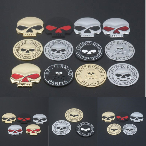 best selling Car 3D Metal Skull Logo Sticker Modified Alloy Skull Stickers Car Body Tail Stickers Motorcycle Emblem Badge Decals Logo