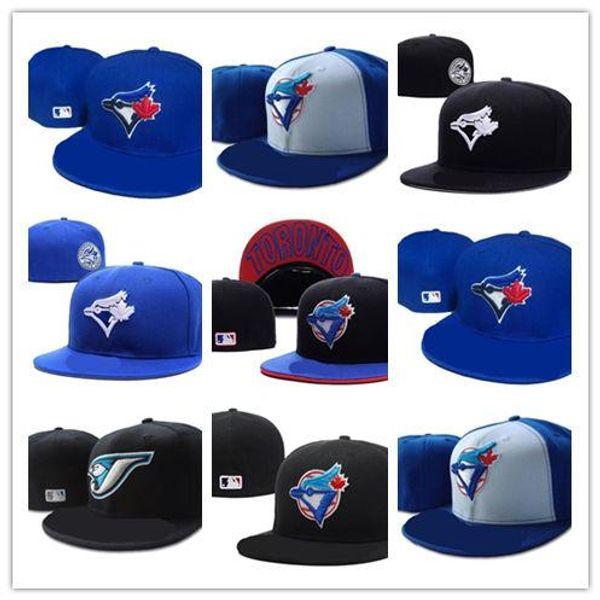 Neue heiße Toronto auf Feld-Baseball passte Hüte Sport-Team-Logo-Stickerei-Blau-Jays voll geschlossene Kappen