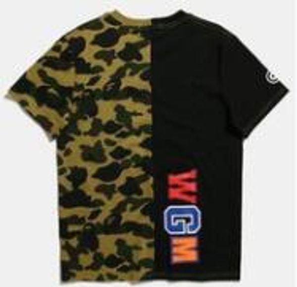 Camuflagem dos homens Painéis de T Camuflagem Moda Impresso Tees para o Verão em 2 Cores Frete Grátis