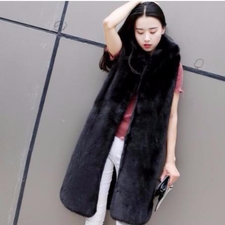 Mink 2019 Kış Kadın Sahte Kürk Yapay Kürk Yelek Kürklü Yelek Femme Ceketler Plus Size Vizon Sahte jile Q1000